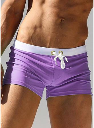 Men's Solid Color Briefs Swimsuit