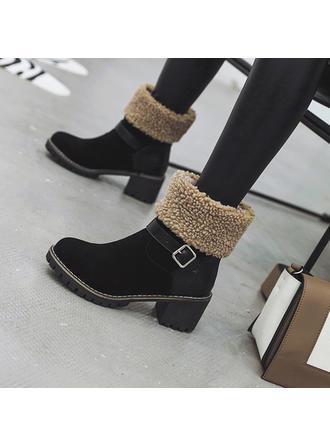 Dla kobiet Skóra ekologiczna Obcas Slupek Kozaki Botki Buty zimowe Z Klamra obuwie