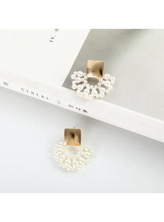Gorgeous Fashionable Alloy Imitation Pearls Earrings