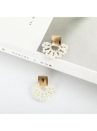 Gorgeous Alla moda lega Di faux perla Orecchini