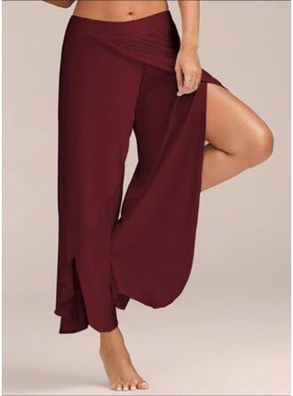 Froncé Grande taille Longue Boho Décontractée Sexy Pantalon