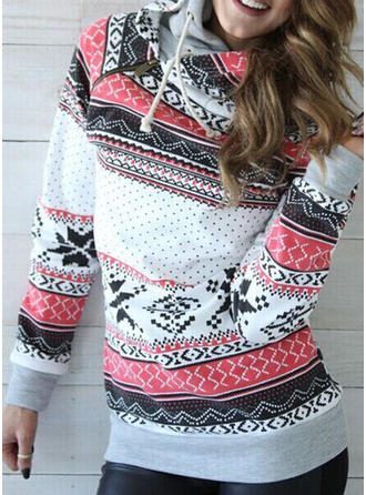Cotton Print Christmas Sweatshirt