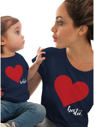 Far og mig Letter Print Matchende T-shirts