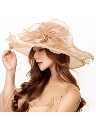 Ladies' Beautiful/Fashion Organza Beach/Sun Hats