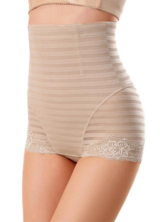 Chinlon Lace Striped Shapewear
