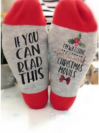 Letter/Print Breathable/Comfortable/Christmas/Unisex Socks