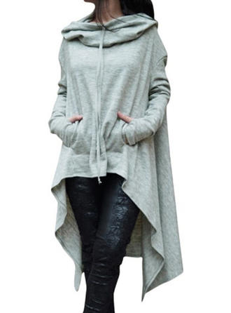 Polyester Plain Hoodie