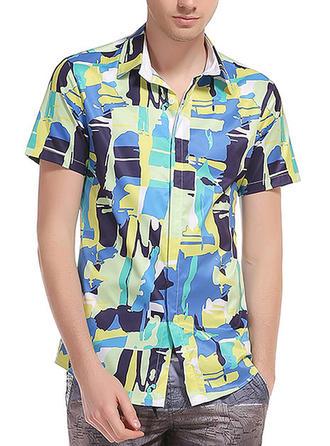 Men's Splice color Beach Shirts