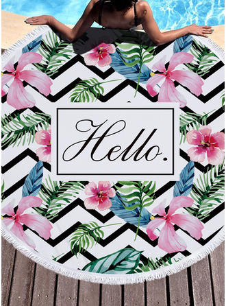 Floral Oversized/round Beach towel