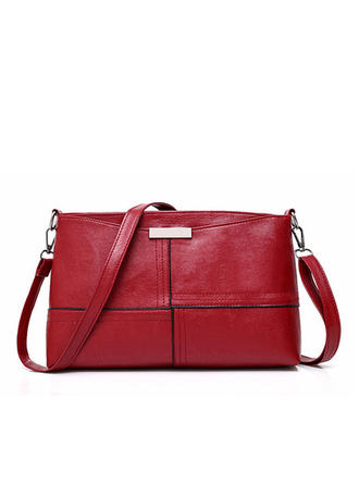 Women's Patent Leather Zipper Casual Crossbody Bags