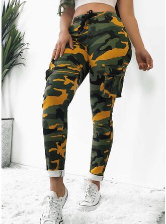 Impresión Largo Sexy Largo Flaco Impresión Pantalones