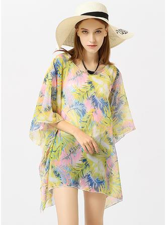 Kwiatowy lekkie/moda/prosty Poncho plażowe