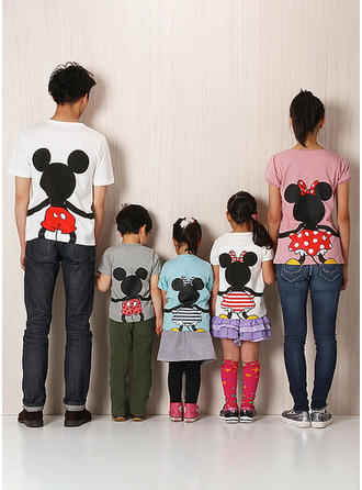 Cartoon Print Familie Matchende T-shirts