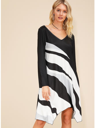 Wyszczuplająca Długie rękawy Koktajlowa Asymetryczna Casual Sukienki