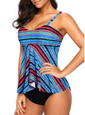 Stripe Strap Swimdress Swimsuit