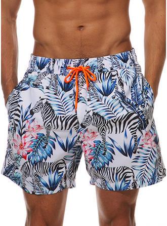 Pour des hommes Floral Shorts de bain Maillot de bain