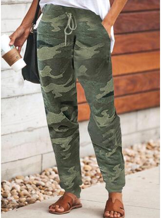 Übergröße Tarnen Kordelzug Lässige Kleidung Sportlich Hosen