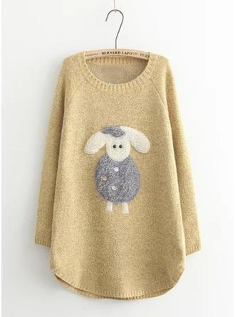 Akryl Okrągły Dekolt Swetry