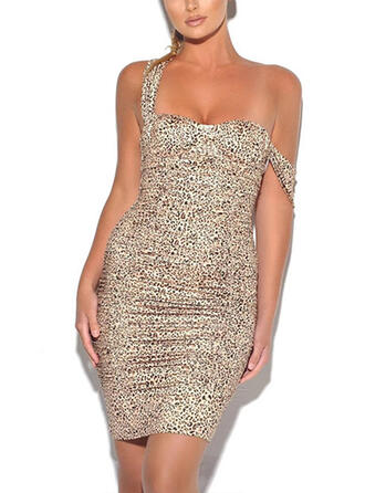 Leopard Sleeveless Bodycon Above Knee Sexy/Party Dresses