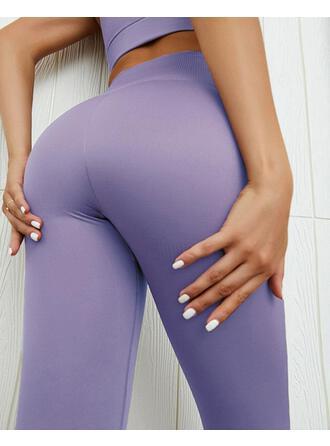Couleur Unie Longue Décontractée Sexy Longue Sportif leggings
