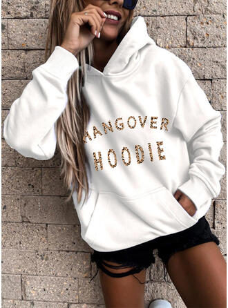 Leopard Figure Long Sleeves Hoodie