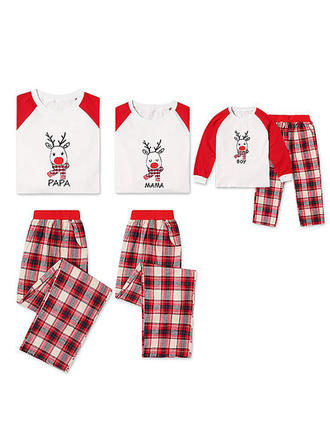 Deer Plaid Familie Matchende Jul Pyjamas