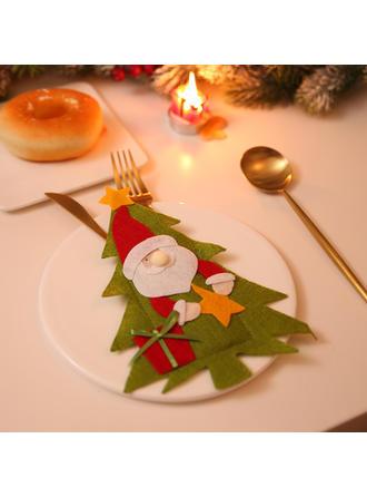 Feliz Navidad Monigote de nieve Reno Papa Noel Tela no tejida Cubierta de vajilla