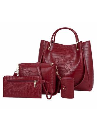 Elegant/Zarte/Pendeln/Einfarbig/Einfache/Krokodil geprägt Umhängetasche/Tragetaschen/Umhängetaschen/Schultertaschen/Tasche Sets