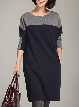 Cotton Blends Knee Length Dress