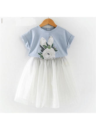 Bébé & Bambin Fille Lapin Tulle Jupe,T-shirt Définir La Taille