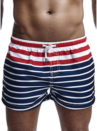 Men's Stripe Swim Trunks
