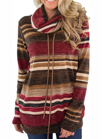 Polyester Striped Sweatshirt
