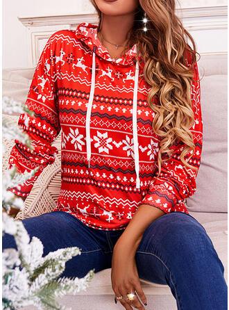 Різдво Εκτύπωση Μακρυμάνικο Толстовка з капюшоном