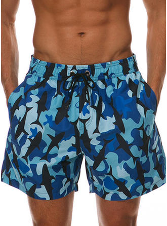 Men's Splice color Board Shorts Swimsuit