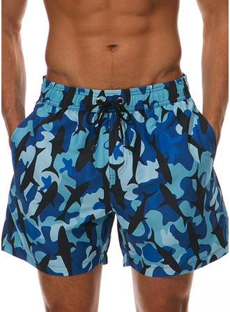 De Los Hombres Color de empalme Pantalones cortos Traje de baño