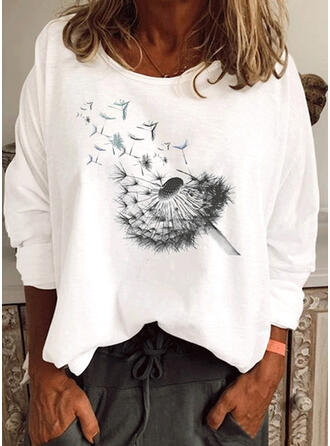 Dandelion Round Neck Long Sleeves T-shirts