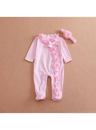 Bebé Bambina Solido Cotone Fascia,Tute Impostare Size