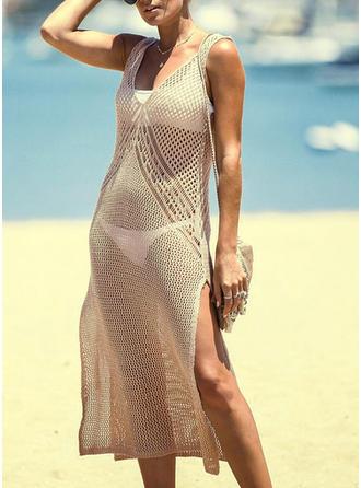 Couleur Unie Col V Sexy À La Mode Jolis Attrayant Tenues de plage Maillots De Bain