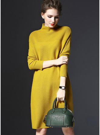 Polyester Turtleneck Plain Sweater