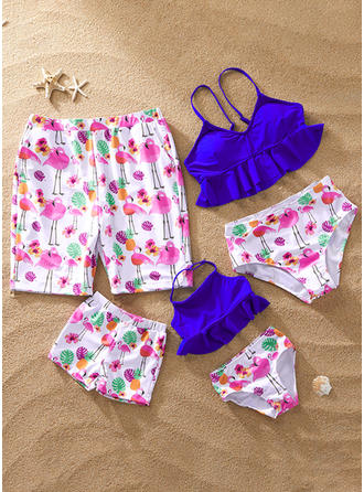 Cartoon Print Family Matching Swimsuit