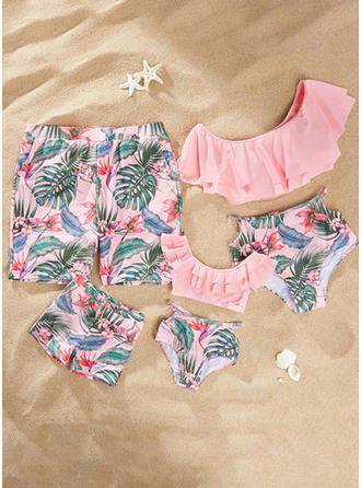Floral Print Family Matching Swimsuit