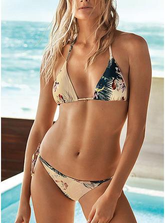 Fleuris Dos Nu Élégante Bikinis Maillots De Bain