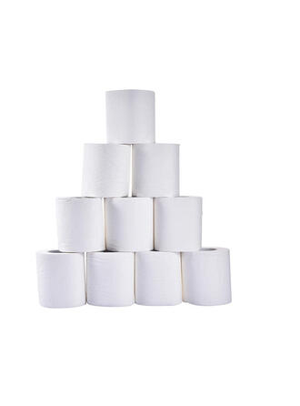 3-Ply 10 Rolls Natural Wood Pulp Paper Towel (Set of 10)