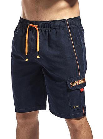 Pour des hommes Doublé Cordon de serrage Shorts de bain