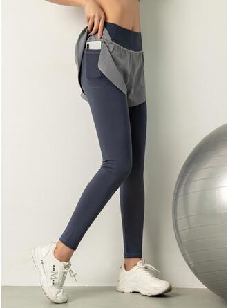 Solid Long Long Skinny Solid Sporty Yoga Leggings