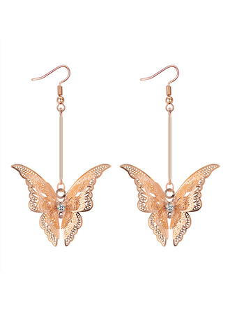 Butterfly Shaped Alloy Braided Rope Earrings