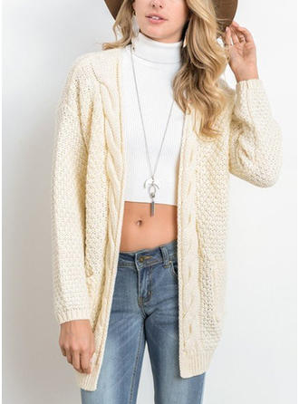 Pulls Gaufre-Tricoter Poches Cardigan