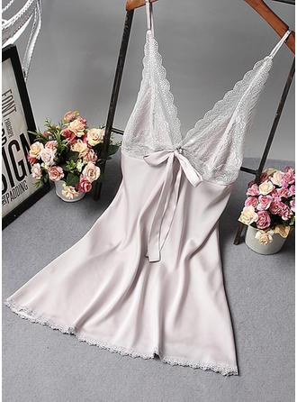 Mătase Dantelă alunecare rochie