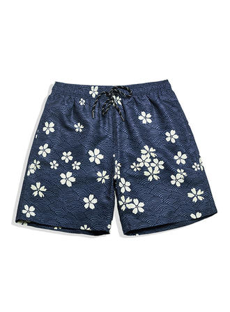 Men's Floral Lined Board Shorts