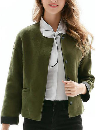 Polyester Long Sleeves Plain Jackets